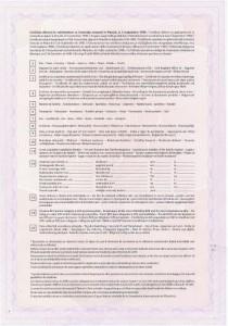 Certificat de capacitate matrimonială - verso